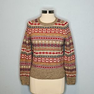 J Crew Fair Isle Multi Color Sweater